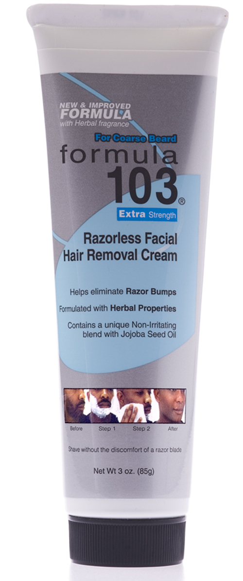 Formula 103 Facial Hair Removal Cream Extra Strength