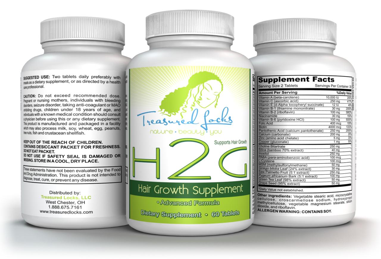 H2G Hair Vitamins- Hair Growth Supplement- 3 Month Supply