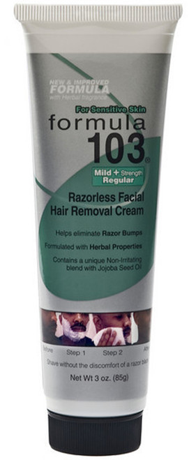Formula 103 Facial Hair Removal Cream Mild Treasured Locks