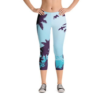 All Day Comfort Capri Leggings Morro Bay