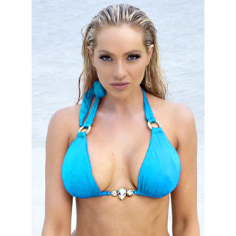 Amber Halter Top - Turquoise