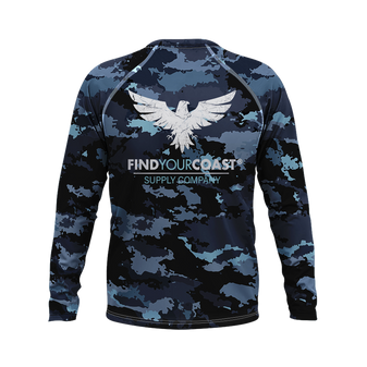 Men's Coast Camo Performance Rash Guard UPF 40