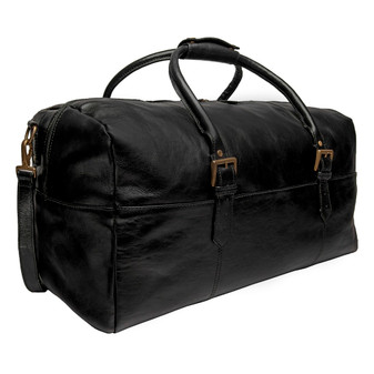 Hidesign Charles Leather Cabin Travel Duffle Weekend Bag (v. CH-004-BL)