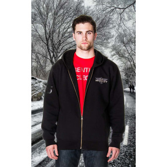 65 McMlxv Men's Fleece Zip Hoodie in Black