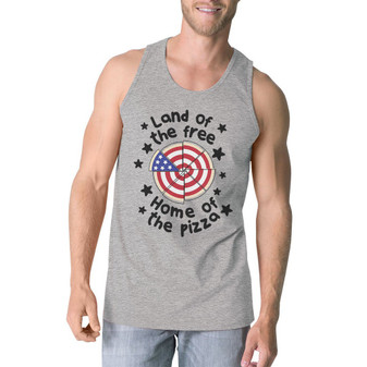 Home of the Pizza Humorous Design Men's Tank Top for 4th of July