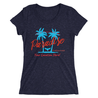 Women's Palm Trees Are My Paradise Customizable Triblend (Personalize This!)
