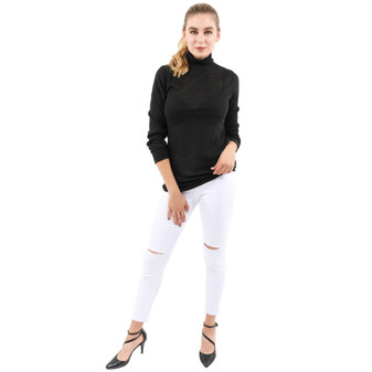 Martin White Slit Knee Denim Jeans