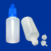 30mL Dropper Bottles - Long Thin Tip - CRC Cap - Squeezable LDPE Plastic