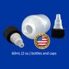 60mL (2oz) Boston Round LDPE Plastic Bottle with Twist Top Cap