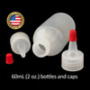 60mL (2oz) Boston Round LDPE Plastic Bottle with Yorker Spout Cap