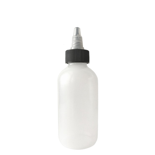 120mL (4oz) Boston Round LDPE Plastic Bottle with Twist Top Cap