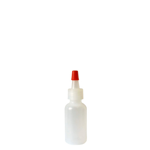 15mL (1/2 oz) Boston Round LDPE Plastic Bottle with Yorker Spout Cap