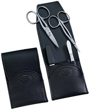 Dovo - 4 pc. Manicure Set, Black (344011)