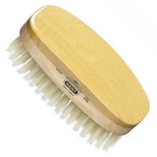 Kent - Hair Brush, Rectangular, Satinwood, Soft White Bristle