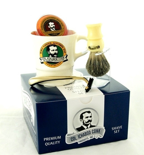 Col. Conk Shave Set with Trac II Razor
