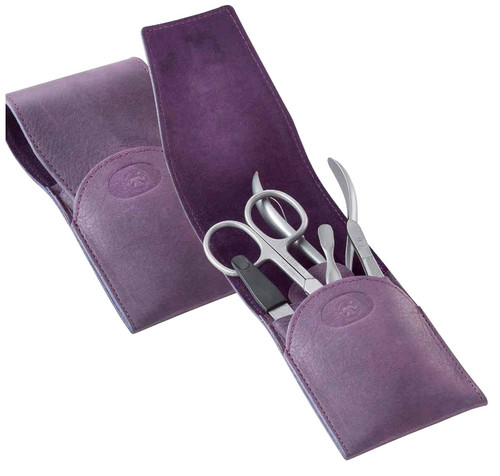 Dovo - 5 pc. Women's Manicure Set, Stainless, Lavender (7010126)