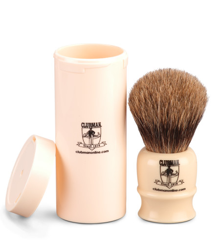 Clubman Online Pure Badger Travel Shave Brush - 80mm