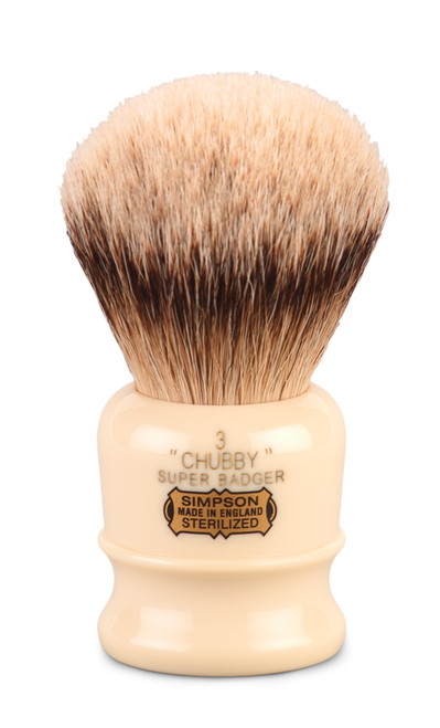 Simpsons Chubby 3 - silver tip badger shave brush.