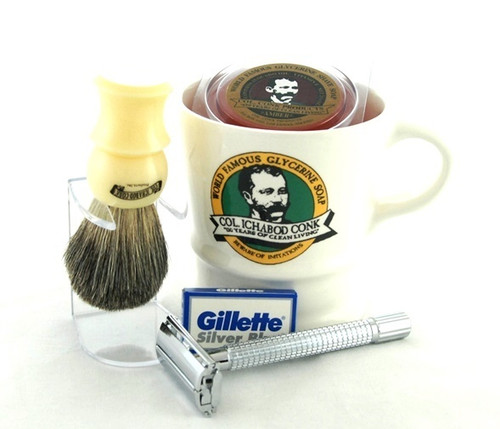 Col. Conk Shave Set with Double Edge Safety Razor - SALE