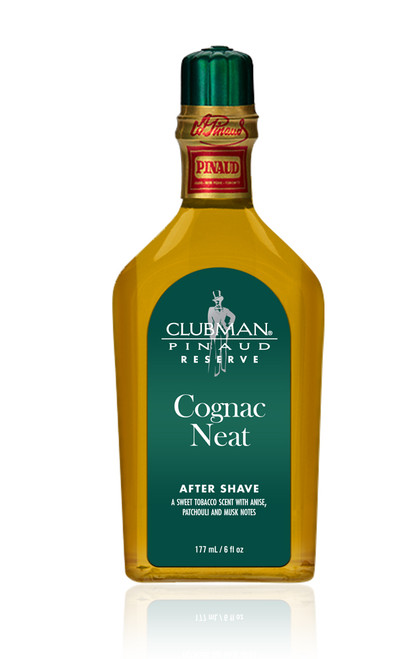 Clubman Reserve -Cognac Neat After Shave Lotion, 6 oz