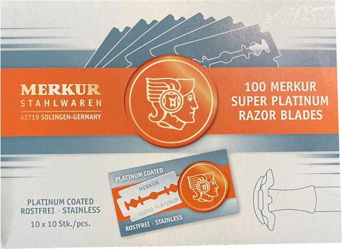 Merkur Platinum Razor Blades, Box of 100