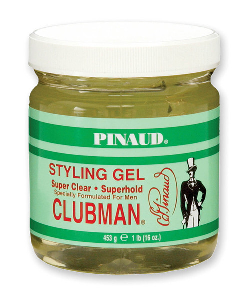 Clubman Super Clear - Super Hold Styling Gel, Jar, 16 oz.