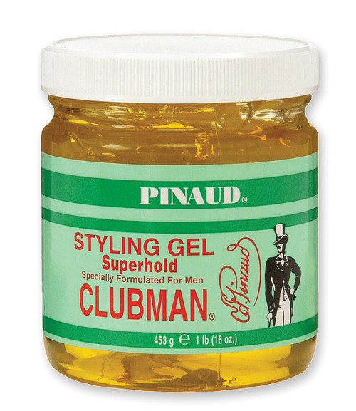 Clubman Superhold Styling Gel, Jar, 16 oz.
