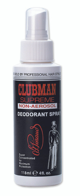 Clubman Supreme Deodorant, Non-Aerosol Spray, 4 oz