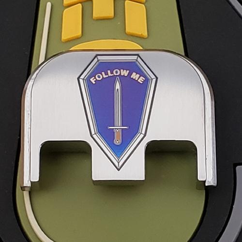 LaserStrike™ Titanium Slide Plate - US Army Infantry 'Follow Me'