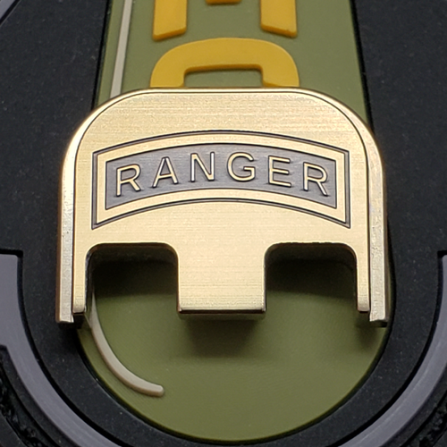 LaserStrike™ Titanium Slide Plate - US Army Ranger Tab