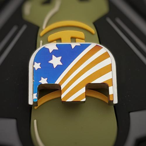LaserStrike™ Titanium Slide Plate - USA Flag