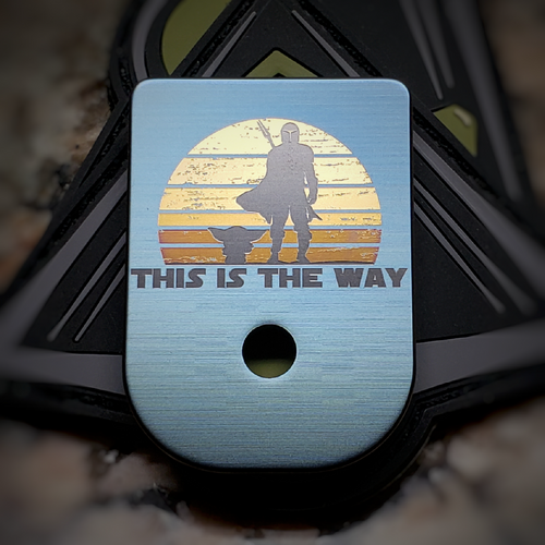 LaserStrike™ Titanium Mag Plate - 'This is the way'