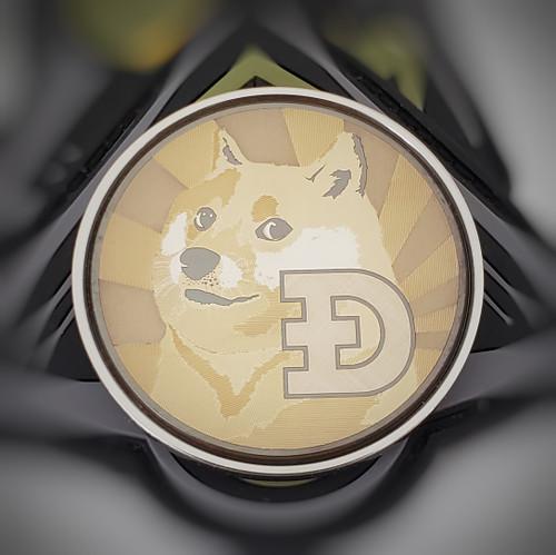 LaserStrike™ Titanium Coin - Dogecoin
