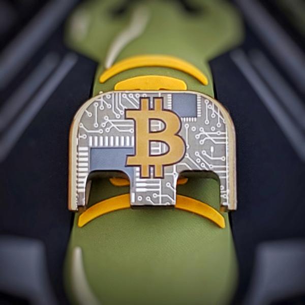LaserStrike™ Titanium Slide Plate - Bitcoin