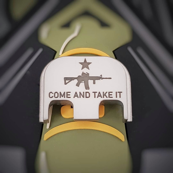 LaserStrike™ Titanium Slide Plate - 'Come And Take It' AR