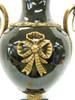 Lyvrich Handmade d'oro Ormolu Conspicuous Porcelain - Potiche Jar, Mantel Urn - Obsidian Black - 22t X 9.5w X 9d