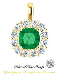 A Cushion Emerald featured set in a GuyDesign® Ladies Pendant, DG863943.91020000.493683