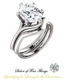 2.66 GuyDesign®, Ladies Engagement, Right Hand, or Wedding Set DG1221186.91020000.8112216, Shown with a 2.66 Carat Benzgem, Best G-H-I-J Diamond Color Range Imitation Diamond