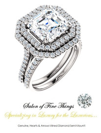 A GuyDesign®, Women's Engagement, Right Hand, or Wedding Set DG1229185.91020000.8192215 Shown with a 4.50 Carat Best Quality Asscher Cut Benzgem Alternative Diamond
