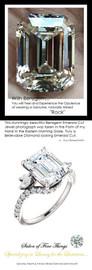 3.95 GuyDesign®, Women's Engagement, Right Hand, or Wedding Set DG5873218.91020000.123785.8 Shown with a 3.95 Carat Best Quality Emerald Cut Benzgem Alternative Diamond