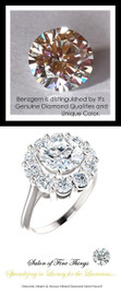 1.91 GuyDesign®, Opulent Platinum Diana Style Ring DG168175.91020000.71861, 1.90 Carat H&A Round Cut Benzgem, Set with 1.20 Carats of Hearts & Arrows, F+, VS Mined Diamonds 10280