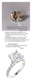 4.50 Benzgem by GuyDesign® 04.50 Carat Asscher Cut Jewelry Sample, Size 7, Tarnish Resistant Silver, 6710-123063