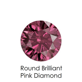 Pink Round Diamond, Loose Gemstones