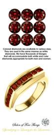1.40 Carat Red Round-Cut Diamonds, Color enhanced Mined Diamonds, 18 Karat Yellow Gold Ring, GuyDesign® Men's Colored Diamond Ring, 10349.5189.5