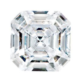 4.50 carat Diamond Equivalent, Asscher Style 9 x9 Moissanite Imitation Diamond 10355dg, Jewelry Design Interface, Rings & Pendants by GuyDesign® #91020904.10355