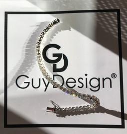 """30 18k White Gold Diamond Bracelet 6.22"""" or 15.8 cm. Bespoke Length"""