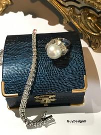 """20 18k White Gold Diamond Bracelet 5.9"""" or 15 cm. Bespoke Length"""