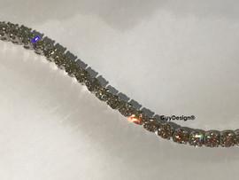 """10 18k White Gold Diamond Bracelet 5.6"""" or 14.2 cm. Bespoke Length"""