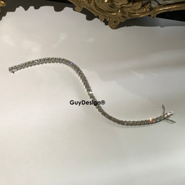 "00005 18k White Gold Diamond Bracelet 5.4"" or 13.8 cm. Bespoke Length"