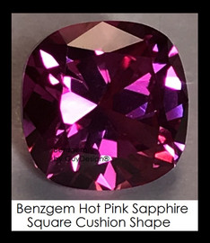 4 Carat 9x9 millimeter Square Cushion Cut Pink Sapphire, 10467 Lot 8, Excellent Cut Real Sapphire created in a Laboratory